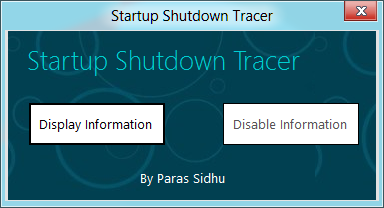 Startup Shutdown Tracer by parassidhu