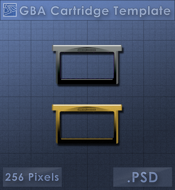 gba cartridge icon template by voidsentinel on deviantart