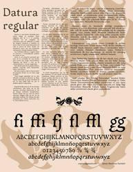 Datura Font by arqaissa