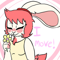 sniff a flower