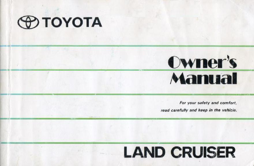 1991 toyota land cruiser owners manual covers 70 by bj74lx on rh deviantart com 2006 land cruiser owners manual 2018 land cruiser owners manual