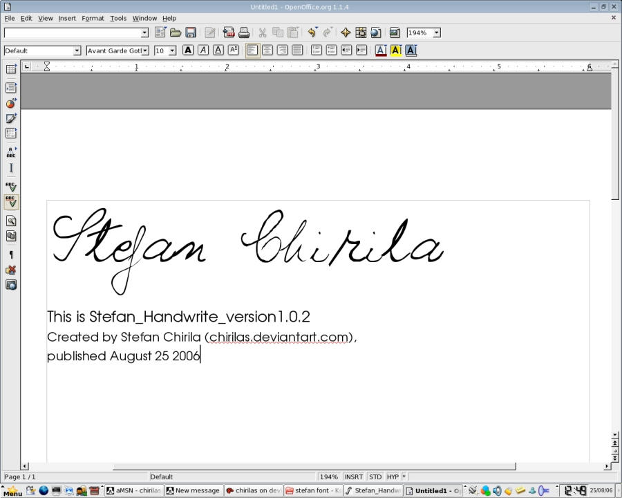 Stefan Handwrite Font by chirilas