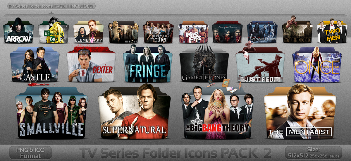 TV Series folder icons PACK 2 by atty12