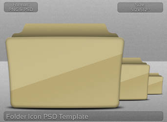 Folder Icon PSD Template by atty12