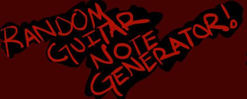 Random Guitar Note Generator by Julianrocks