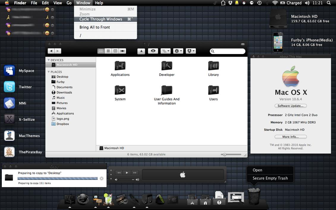 Black Mac OS X by FURBY8704