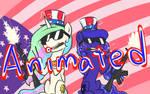 Celestia and Luna 4th of July Animated Gif