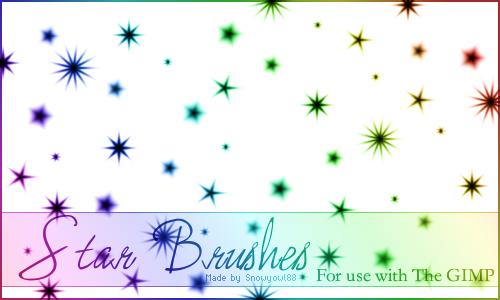 [photoshop/gimp] multi dégradé de couleur  Star_Brushes_1_by_Snowyowl88_Stock