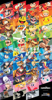 Smash Amiibo Fan Poster V.