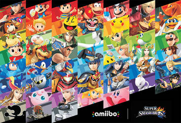 Smash Amiibo Fan Poster H. by twitchSKETCH