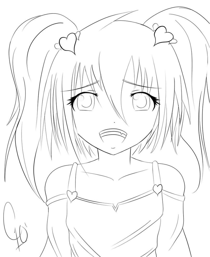 anime coloring pages deviantart outgoing - photo#32