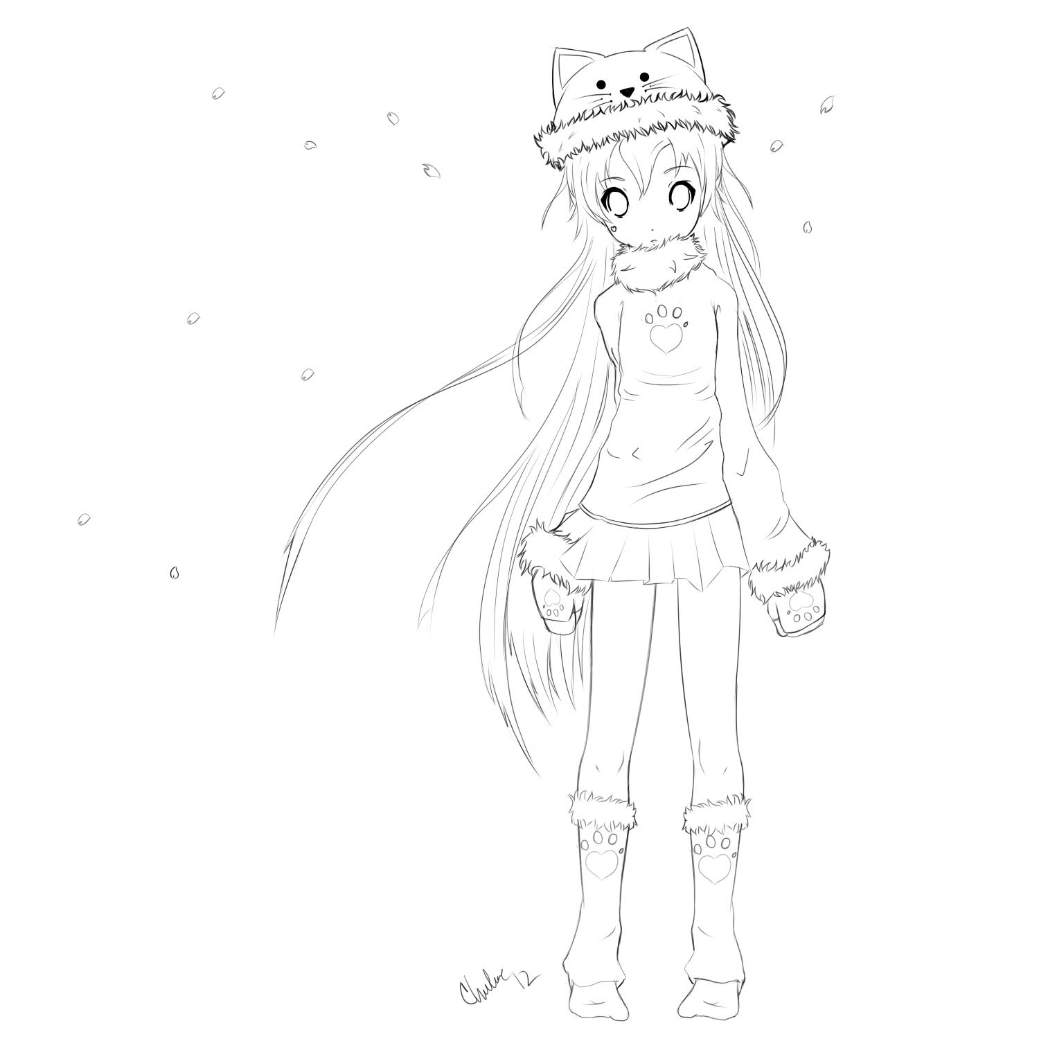 Image Result For Manga Cat Coloring