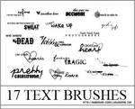 17 Text Brushes