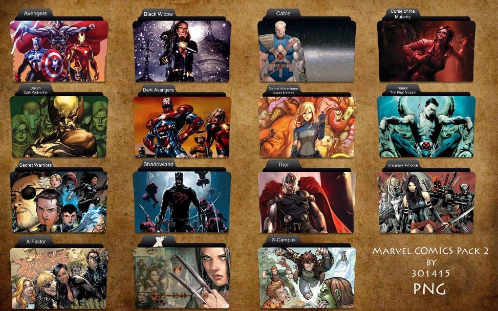 Marvel Comics Folder Pack 2 by 3o1415