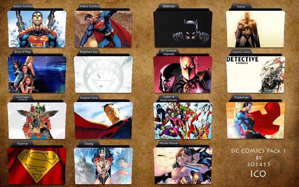 DC Comics Folder Icons by 3o1415 on DeviantArt