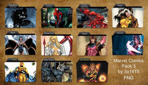 Marvel Comics Folder Pack 3 by 3o1415