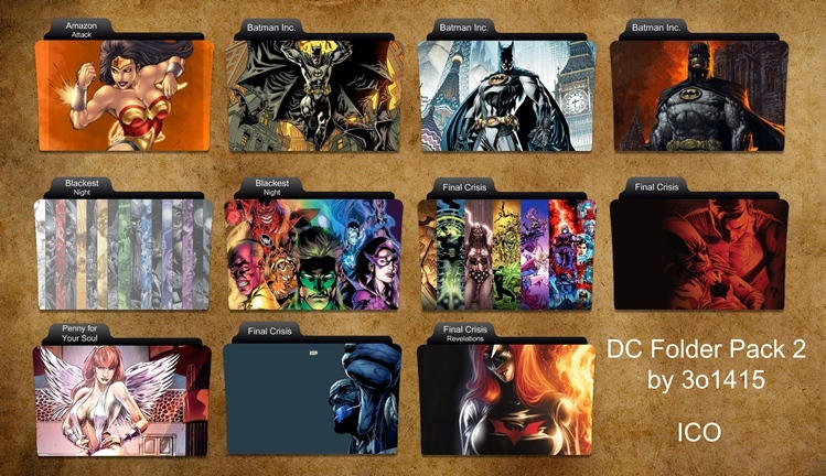 DC Comics Folder Icons 2 by 3o1415