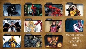 Marvel Comics Folder Icons 3 by 3o1415