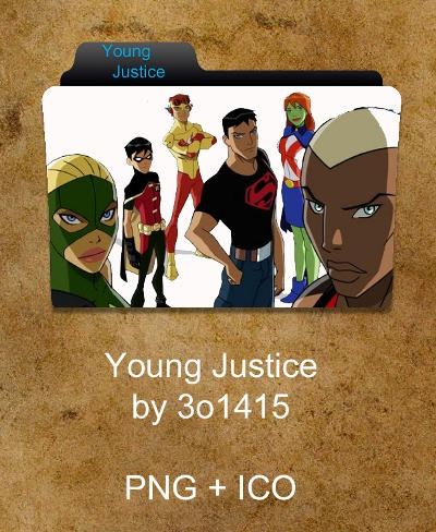 Young Justice Folder by 3o1415Young Justice Icon