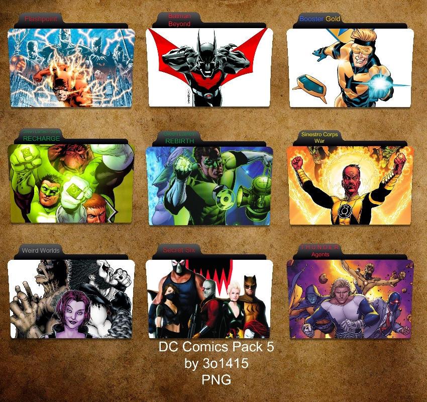 DC Comics Folder Pack 5 by 3o1415