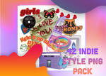 Indie style PNG pack bygaothichanco