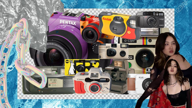 FILM, COMPACT CAMERA PNGS PACK.