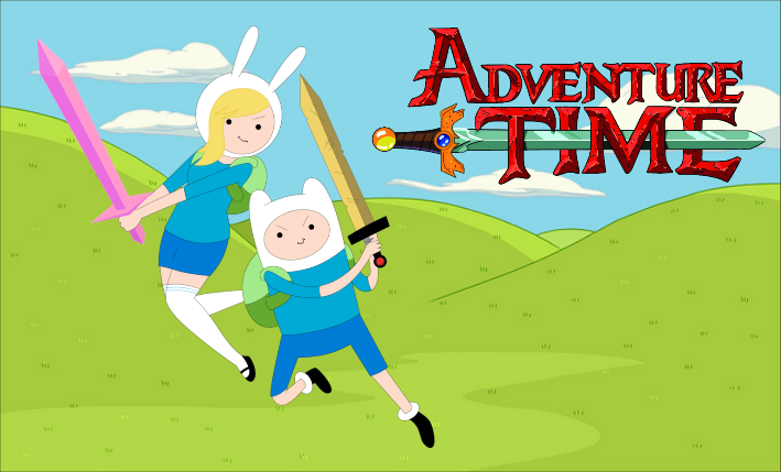 Adventure time Finn and Fionna by TheSpiderAdventurer