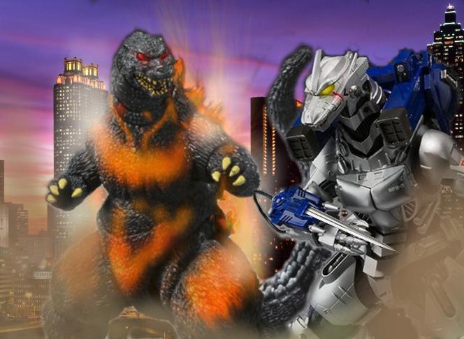 A legendary battle, Burning Godzilla vs Kiryu by ...