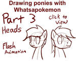 Drawing Ponies with Whatsapokemon, Heads by Whatsapokemon