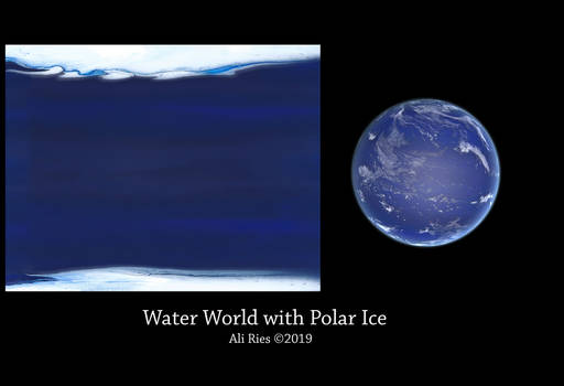 Water World with Polar Ice by Ali Ries 2019