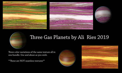 Three Gas Planets by Ali Ries 2019