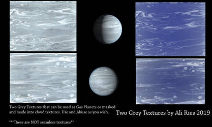 Two Grey Textures by Ali Ries 2019 by Casperium
