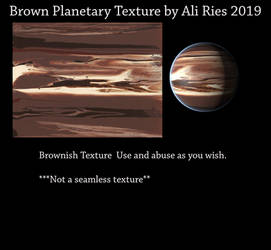 Brown Planetary Texture by Ali Ries 2019 by Casperium