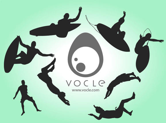 Free Silhouette Vectors - Surf by volcleben