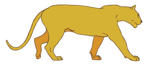 big cat walk pencil test 2d animation