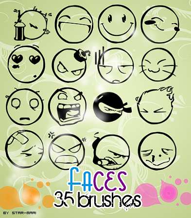 Faces Brushes.-