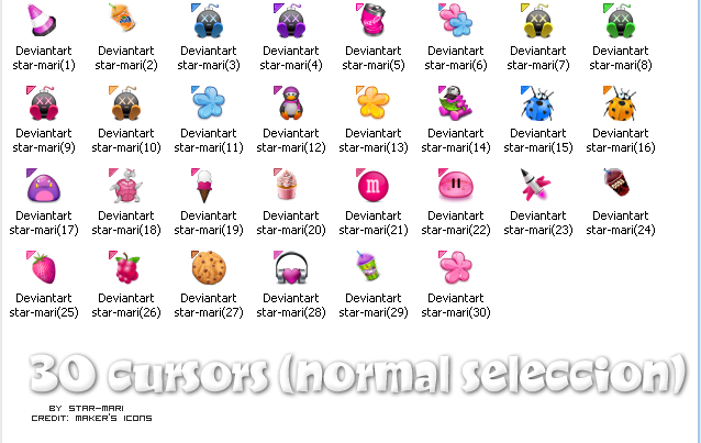 Cursors icons by star-mari