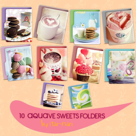 Sweet  Aquave  Folders! by star-mari