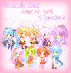 9 Chibi Vocaloids Render Pack