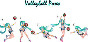 MMD Download {Volleyball Poses}