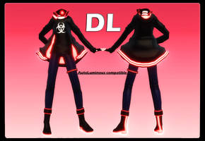 MMD Download {Neon Glowing Outfit} by TakahashiYori