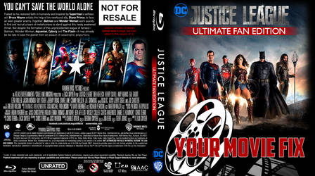 YourMovieFix's Justice League - fan Blu Ray cover