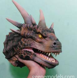 Dragon Bust/ hand pupept