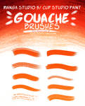 Gouache Brush Set for Manga Studio (Dry Brysh v.2) by RoastedStix