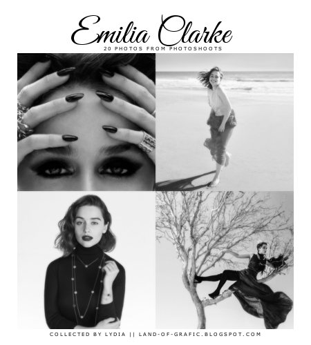 http://lydialowa.deviantart.com/art/Emilia-Clarke-photoshoots-669555579