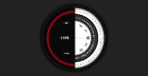 Super Rotation Clock Live Wallpaper Animate  By Ra