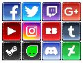Free Social Media Icons by LeviaDraconia