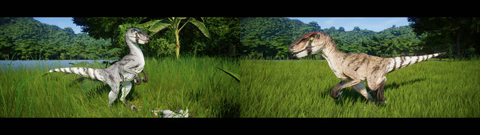 JWE Desert Velociraptor Skins + Download by LeviaDraconia