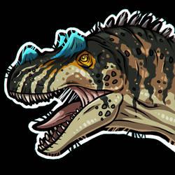 FREE Ceratosaurus Portrait Base by LeviaDraconia