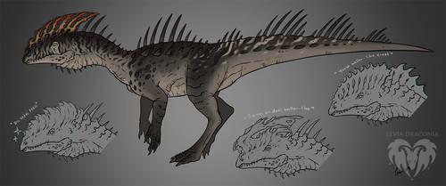 Dilophosaurus Mutation + FREE Base Download by LeviaDraconia